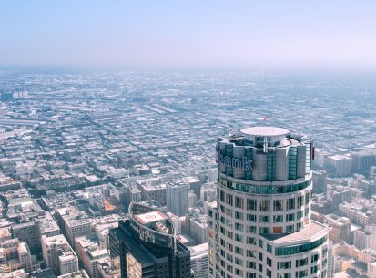 Aerial Cityscape, Los Angeles